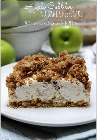 Apple Cobbler No Bake Cheesecake