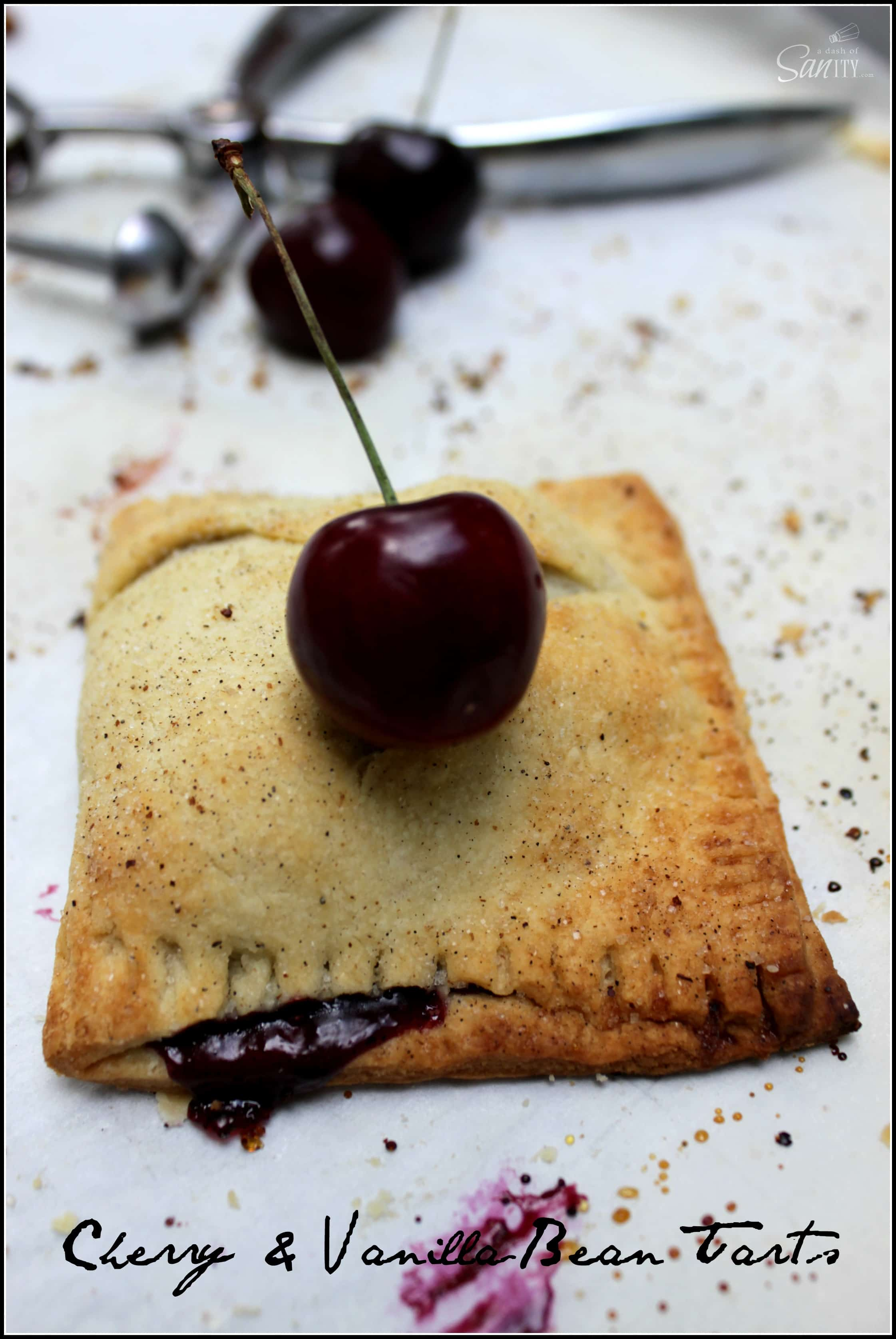Cherry & Vanilla Bean Tart | Simple ingredients, amazingly delicious!