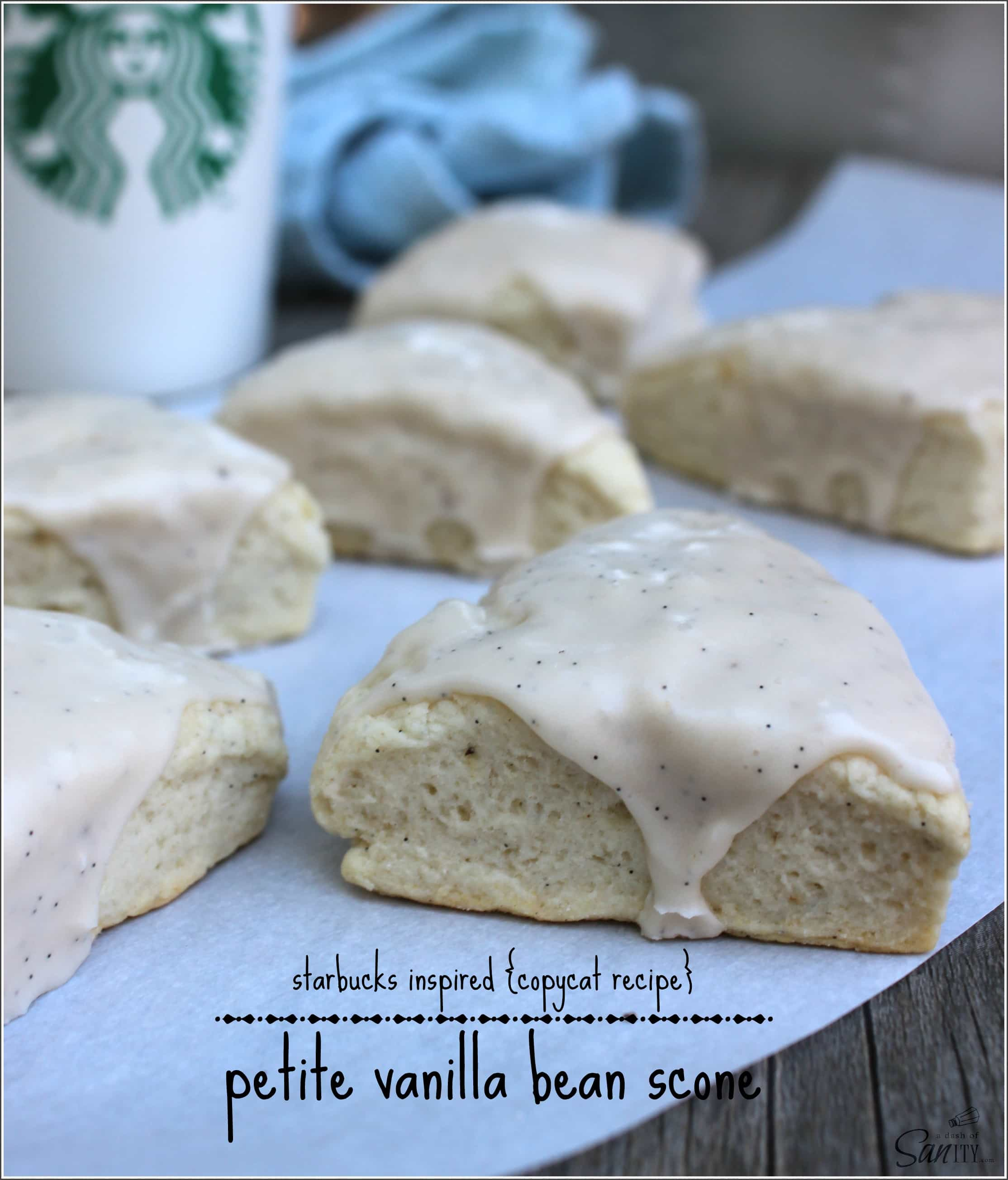 Petite Vanilla Bean Scones | Starbucks Inspired {Copycat Recipe}