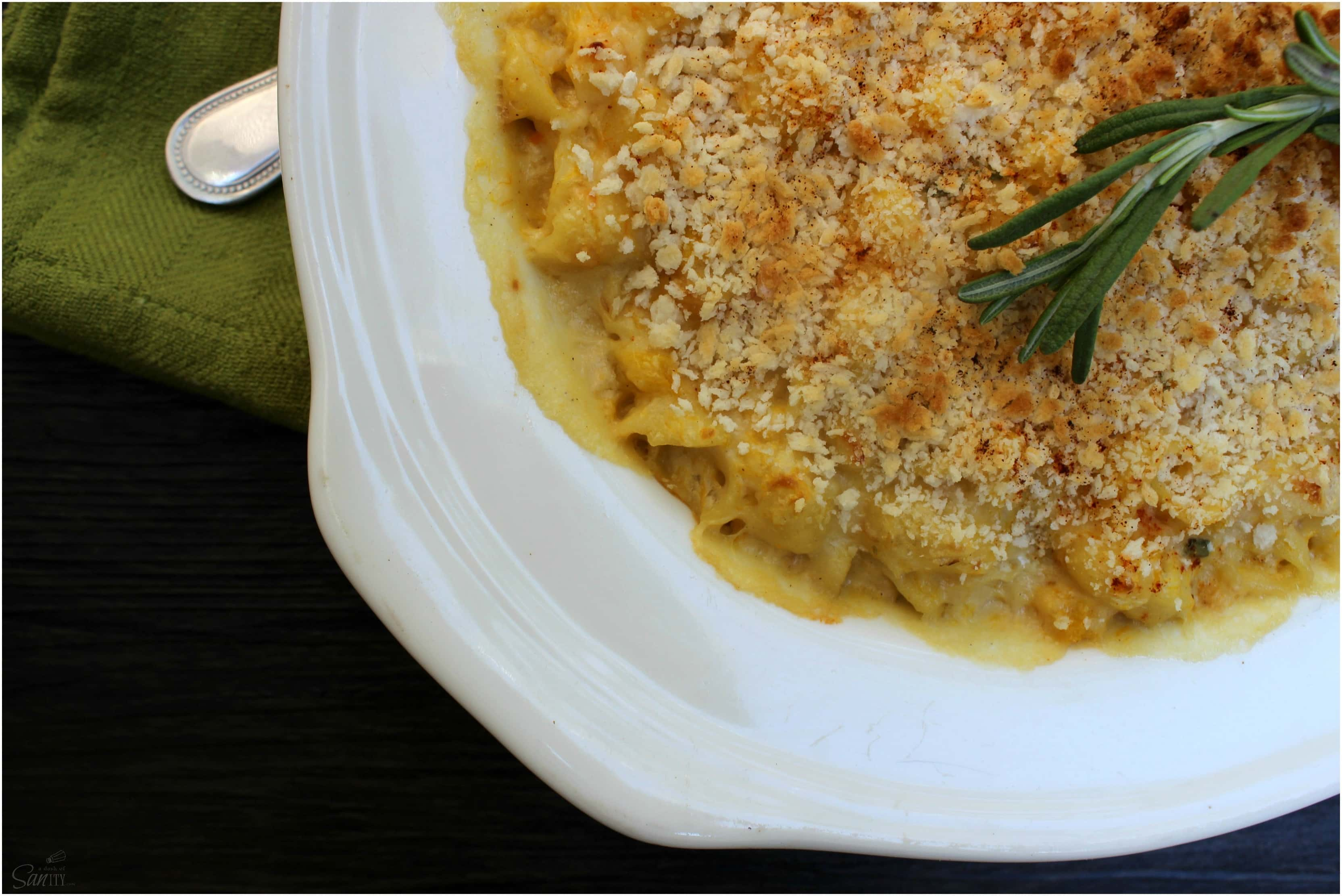 This creamy Butternut Squash Mac & Cheese is a twist on an American classic with a hint of fall. This healthier take will become a family favorite.