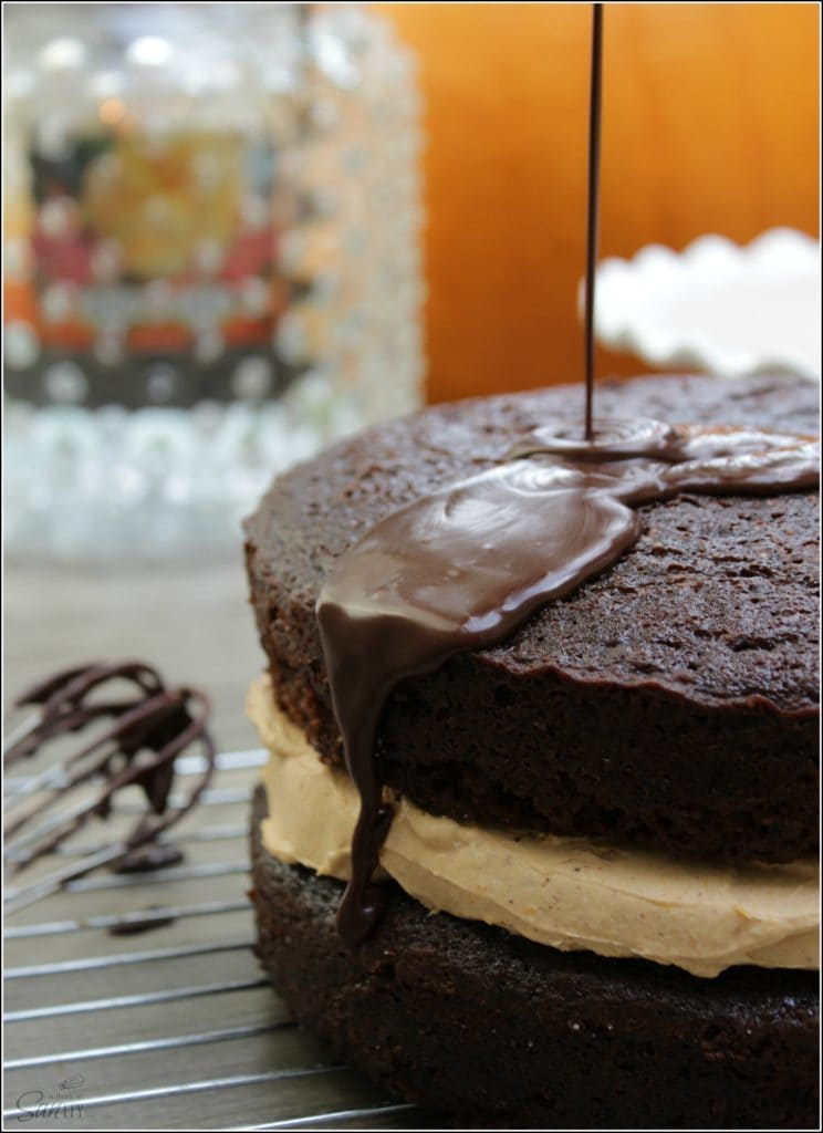 chocolate harvest cake sauce