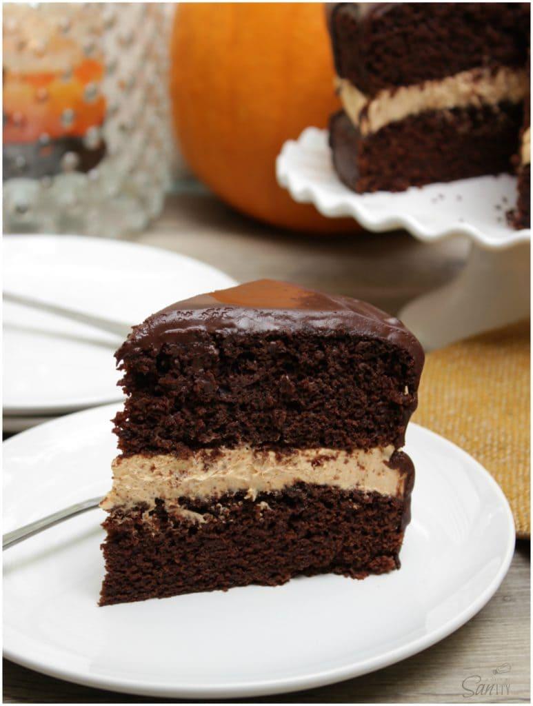 chocolate harvest cake slice