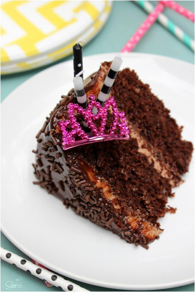 double chocolate nutella layer cake piece