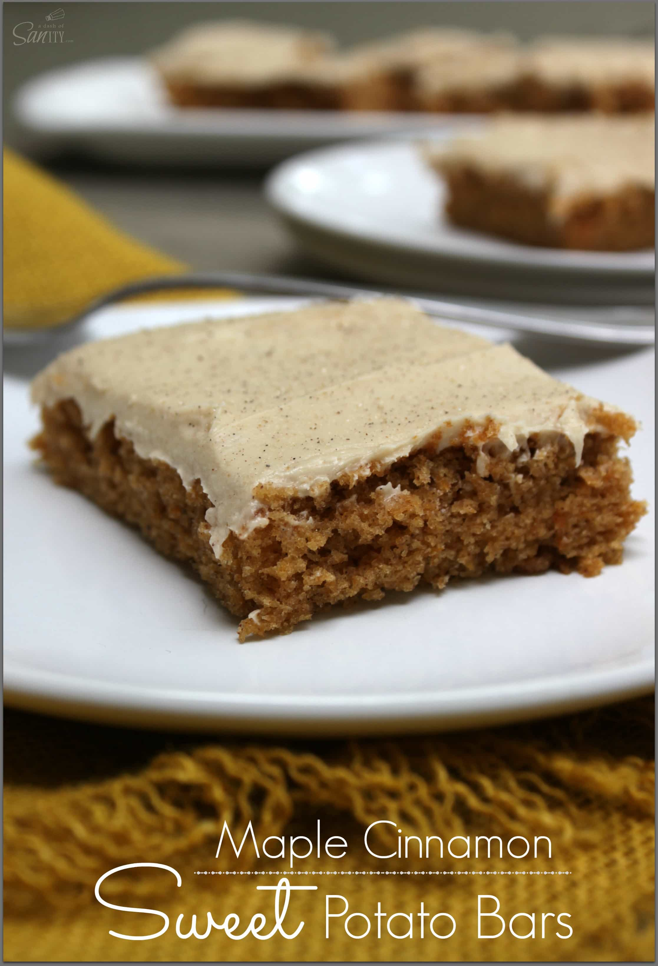 Maple Cinnamon Sweet Potato Bars