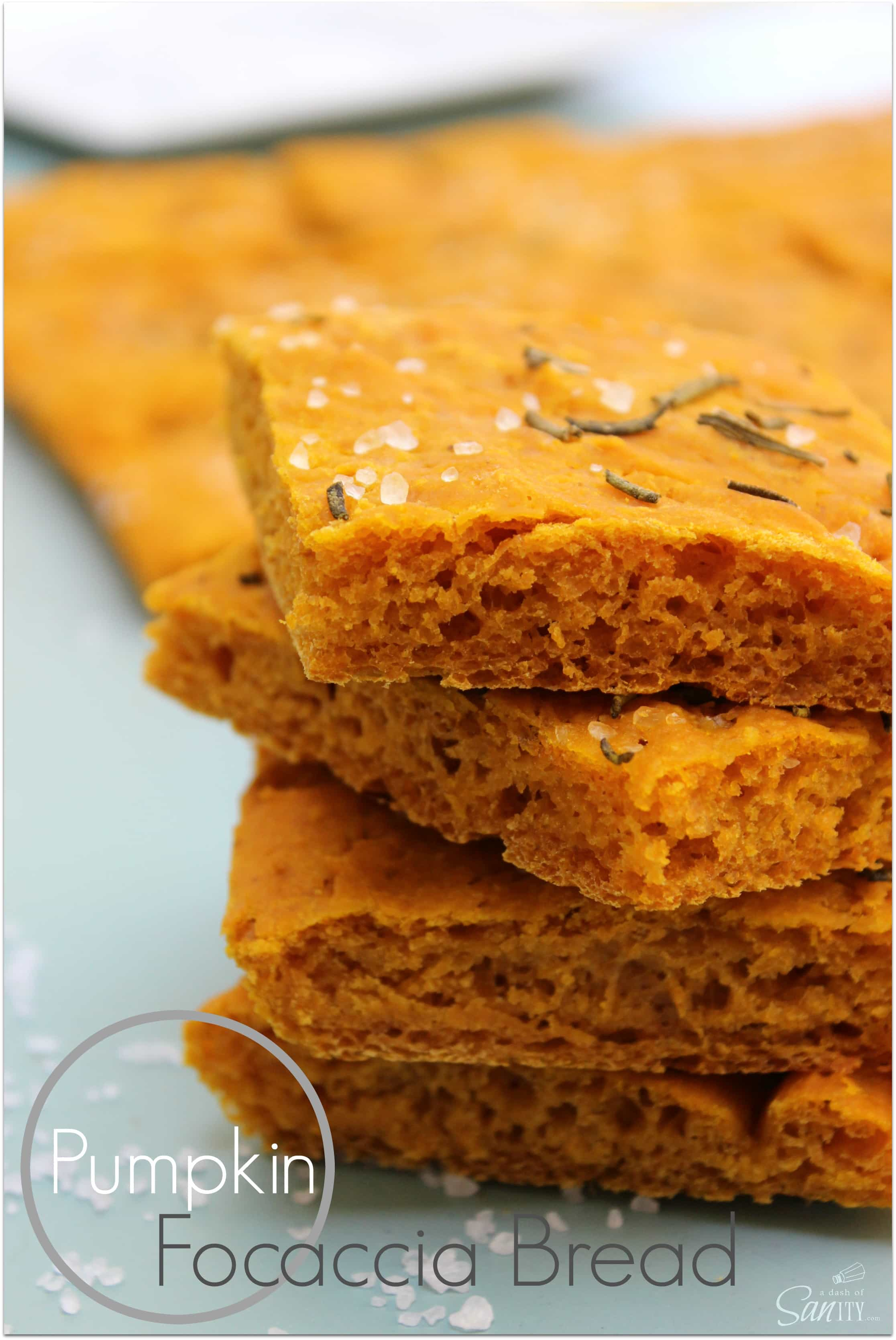 Pumpkin Focaccia Bread