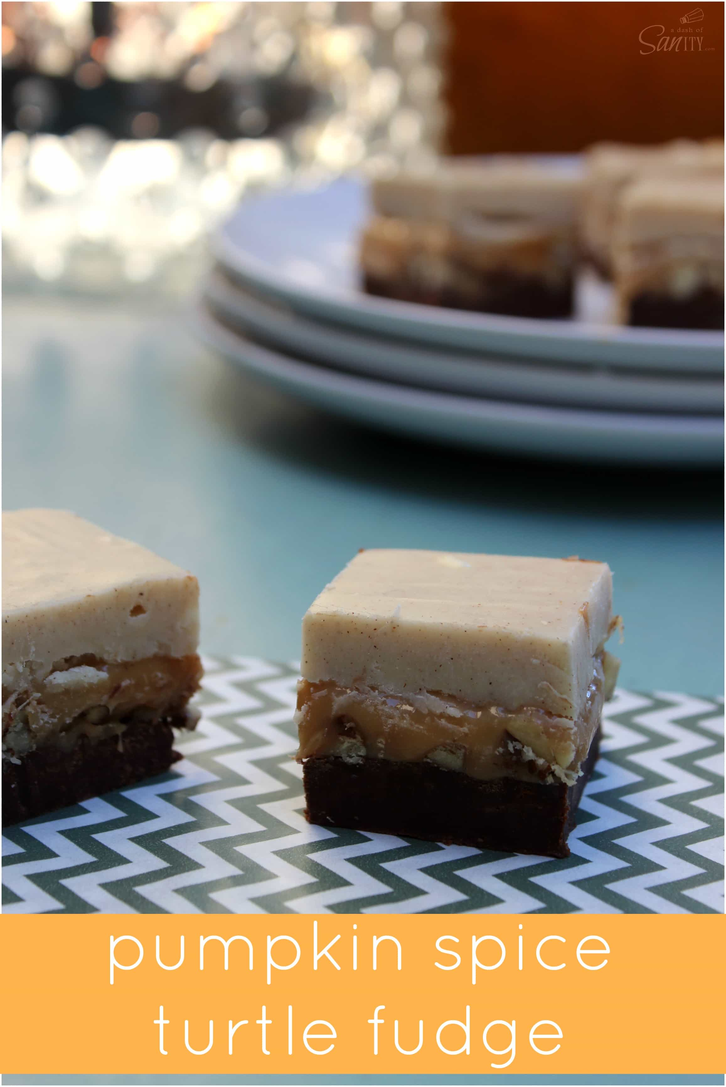 Pumpkin Spice Turtle Fudge