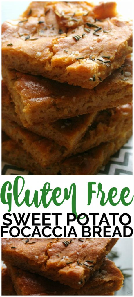 Gluten Free Sweet Potato Focaccia Bread pinterest image