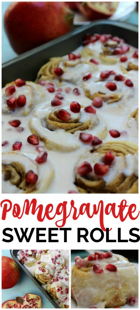 Pomegranate Sweet Rolls pinterest image