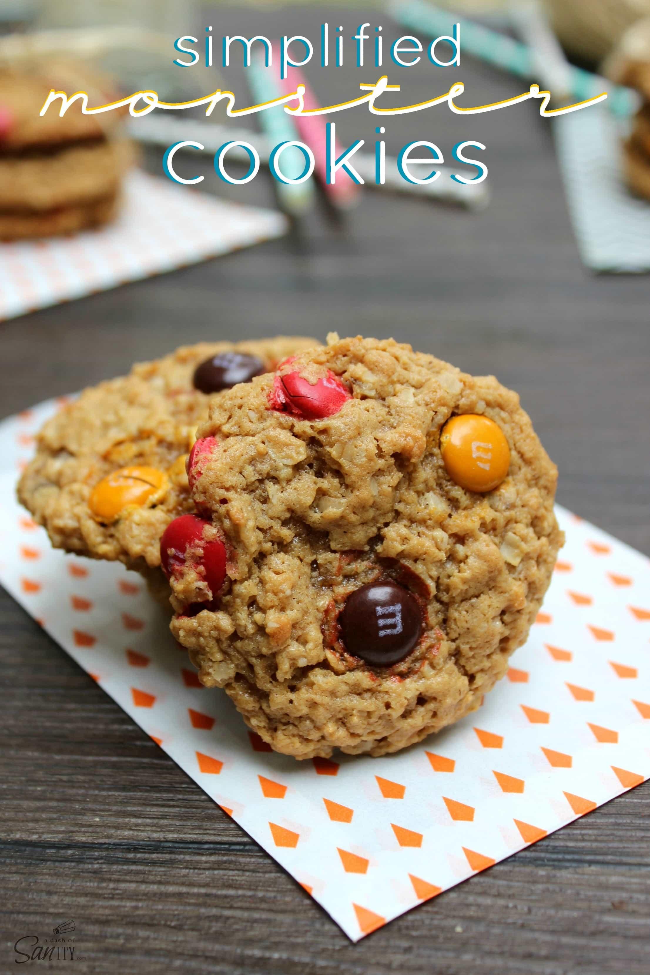 Simplified Monster Cookies