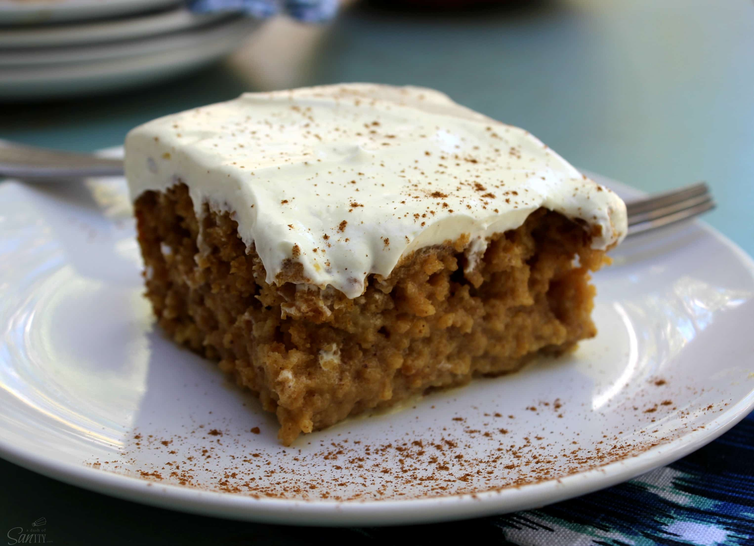 This Pumpkin Eggnog Tres Leches is an amazingly delicious pumpkin cake soaked in an eggnog milk custard, perfect for any holiday occasion.