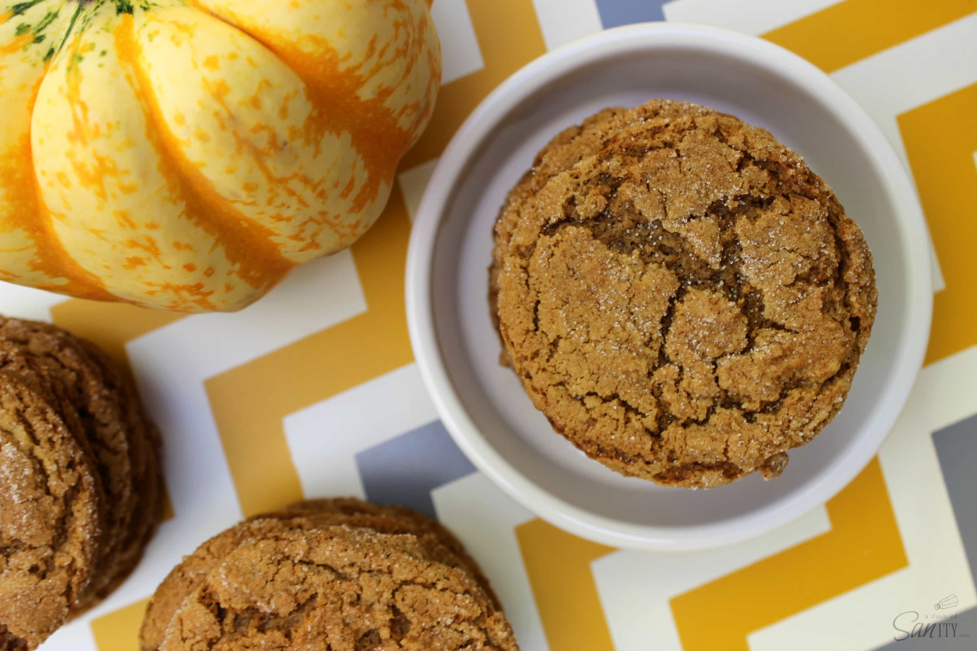 These Pumpkin Ginger Cookies are the perfect addition to your holiday. Made with ginger, molasses, spice, & pumpkin these are the best ginger cookies ever.