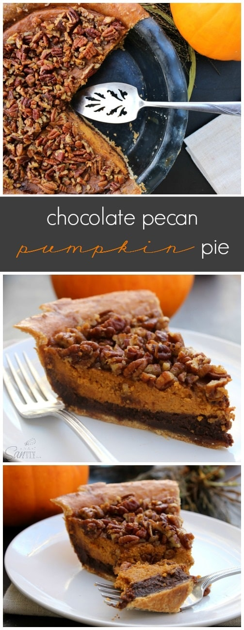 Chocolate Pecan Pumpkin Pie