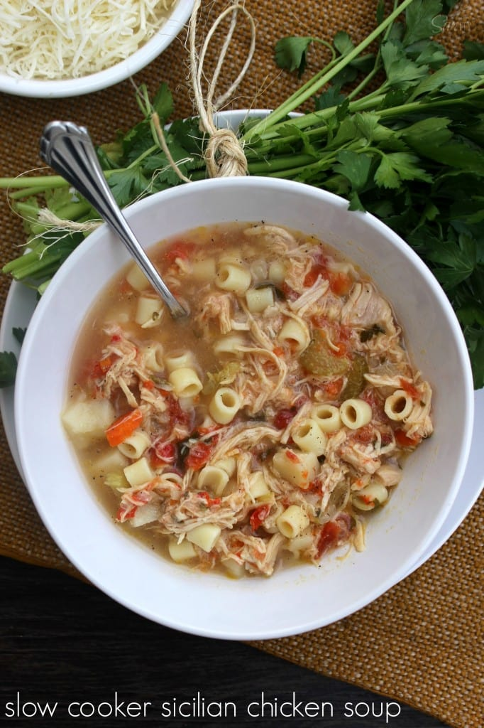 Slow Cooker Sicilian Chicken Soup main