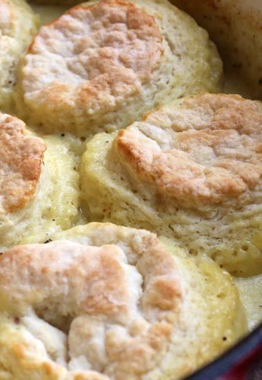 One Pot Chicken & Biscuits