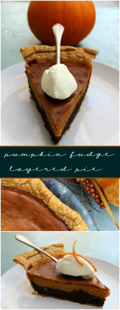 PUMPKIN FUDGE PIE - Rich and decadent this twist elevates the traditional pumpkin pie to a whole new level of devourment.