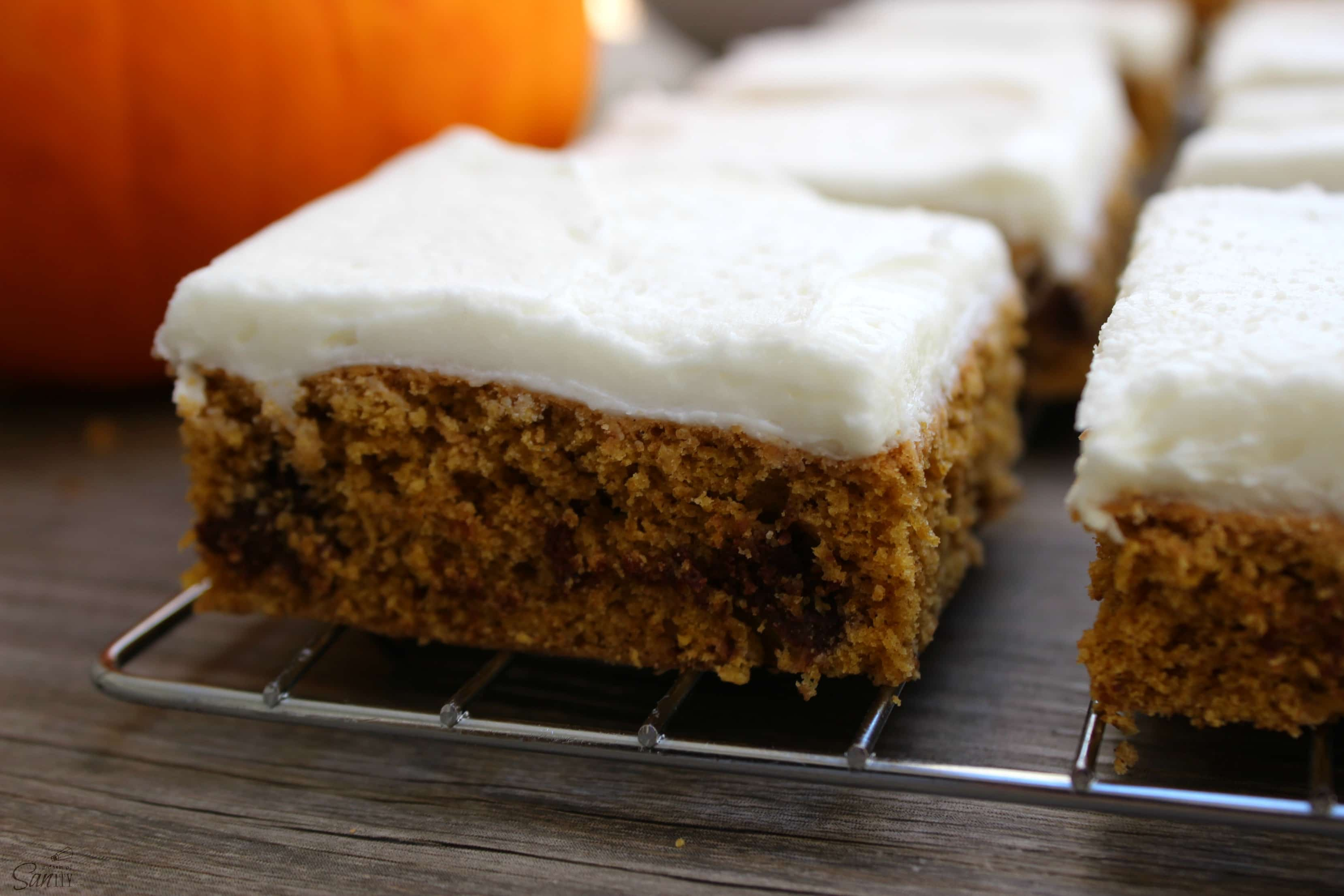 These Pumpkin Chocolate Chip Cookie Bars are something you must try this fall. In fact, it would make a perfect treat for the upcoming holidays!