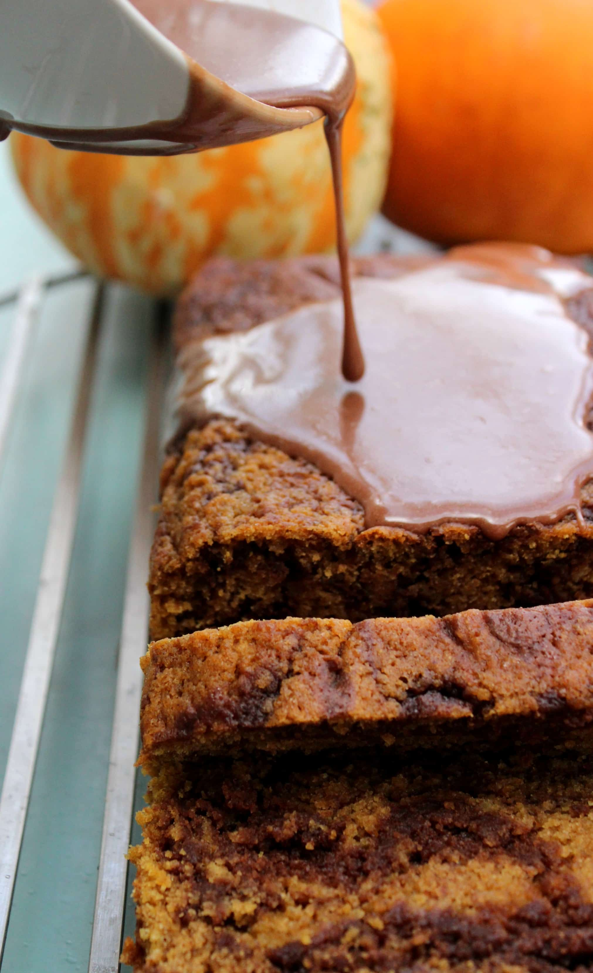 Pumpkin Nutella Swirl Bread takes pumpkin, chocolate, & hazelnut to a new level. Not only is it a beauty to look at, it's moist and full of fall flavors.