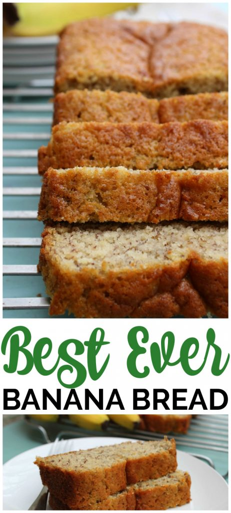 Best Ever Banana Bread pinterest image