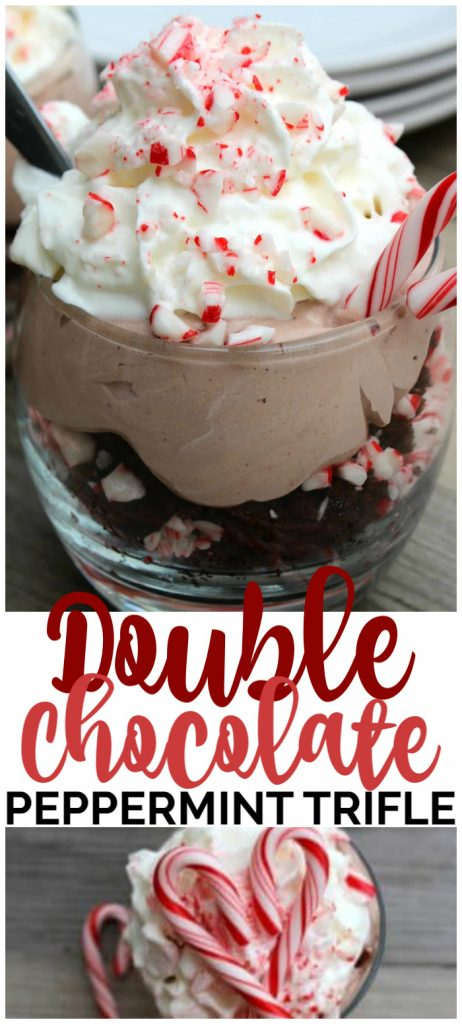 Double Chocolate Peppermint Trifle pinterest image