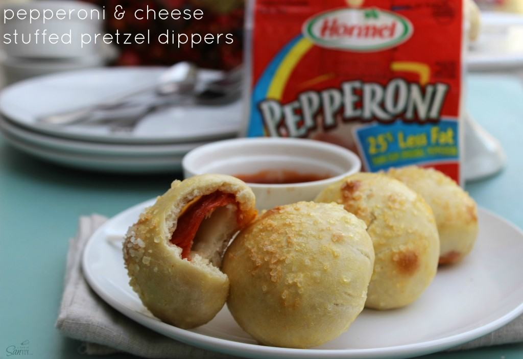 Hormel Pepperoni & Cheese Stuffed Pretzel Dippers