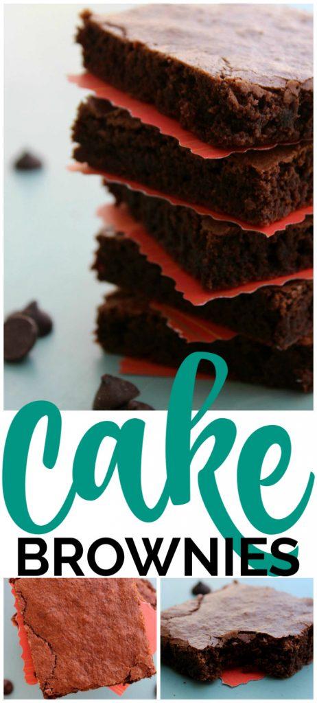 Cake Brownies pinterest image