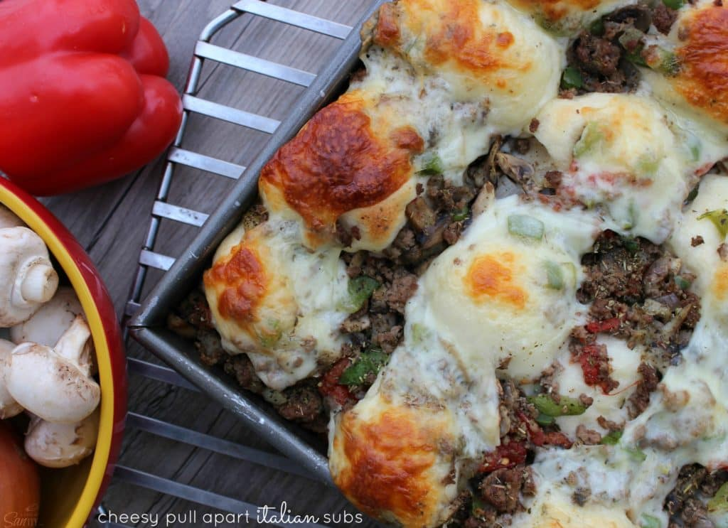 Cheesy Pull Apart Italian Sub Rolls view main