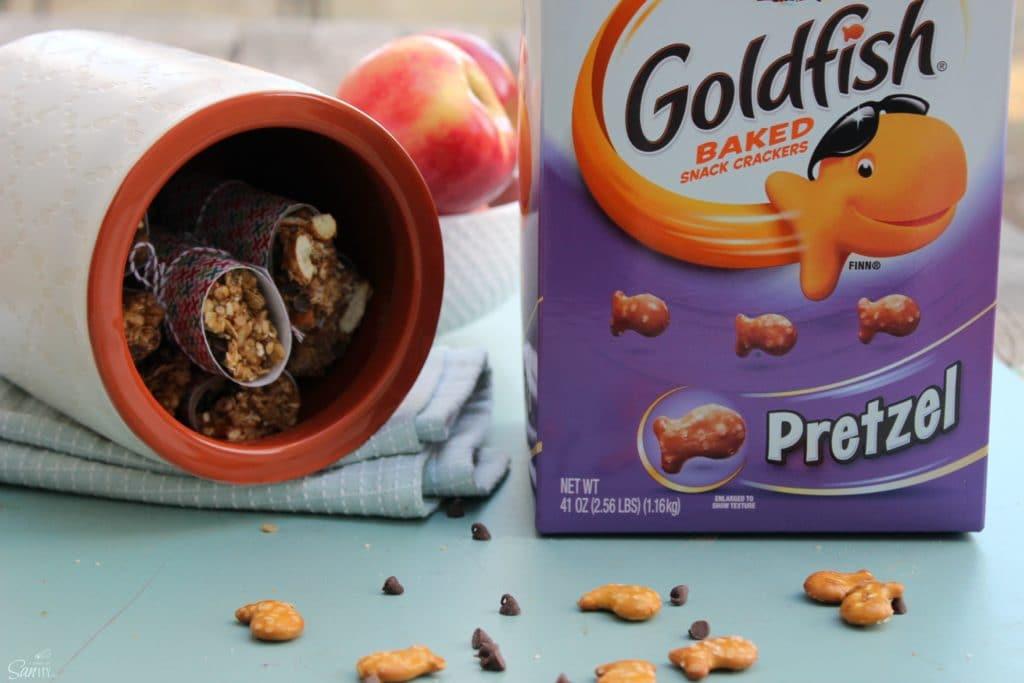 Chewy Pretzel Peanut Butter Granola Bars Goldfish