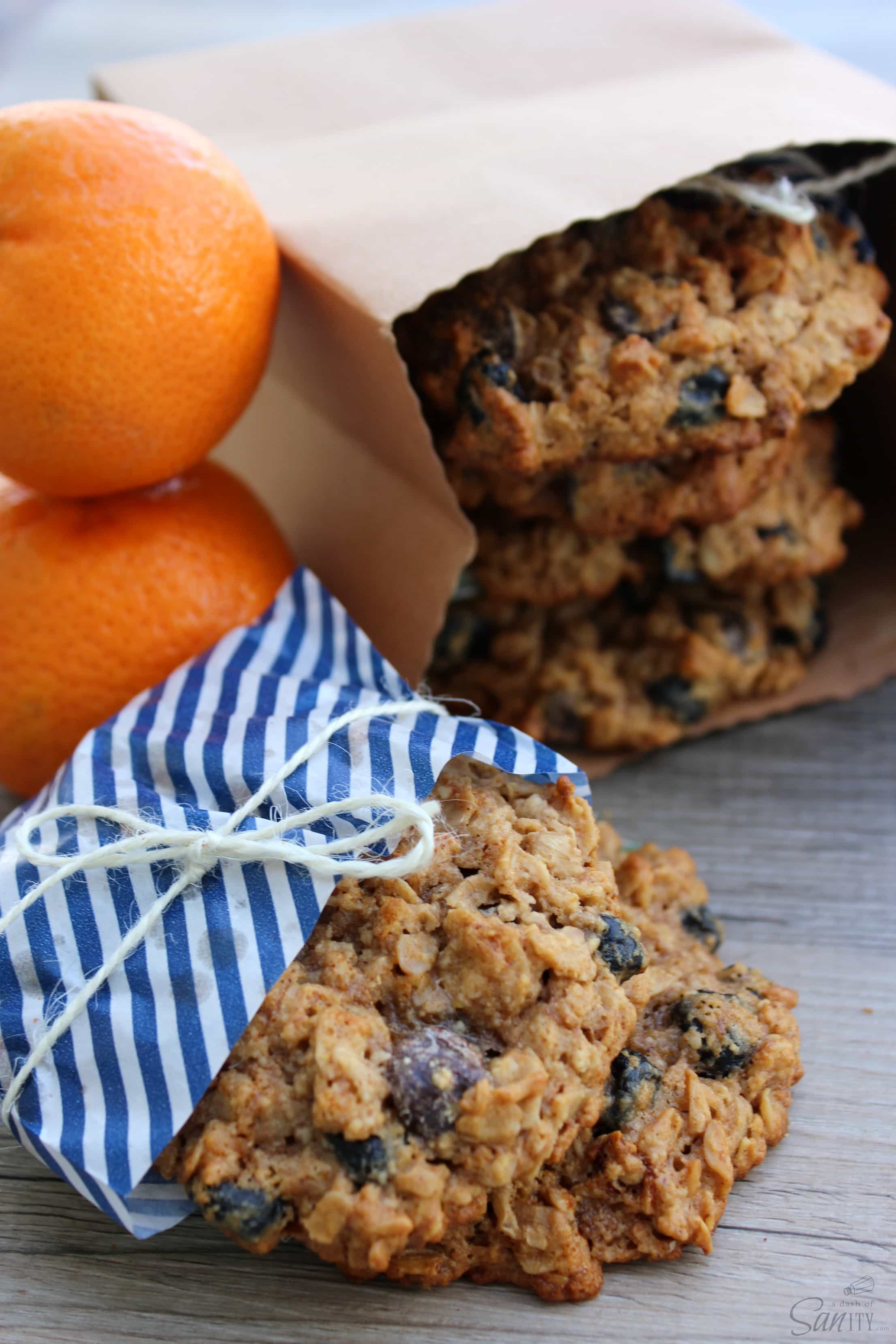 These Oatmeal Breakfast Cookies are a tasty protein filled way to the start off your day. They make a great snack to power through the afternoon.