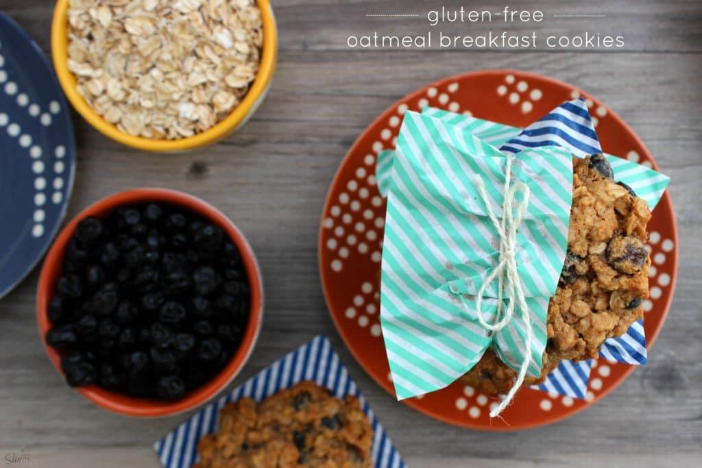 Oatmeal Breakfast Cookies top