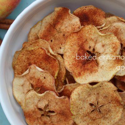Baked Cinnamon & Sugar Apple Slices