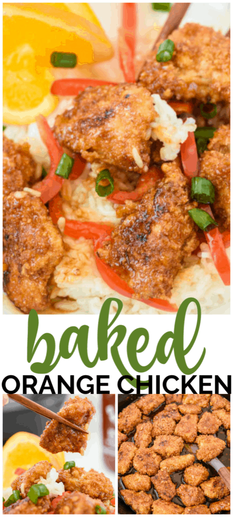 Baked Orange Chicken long pin
