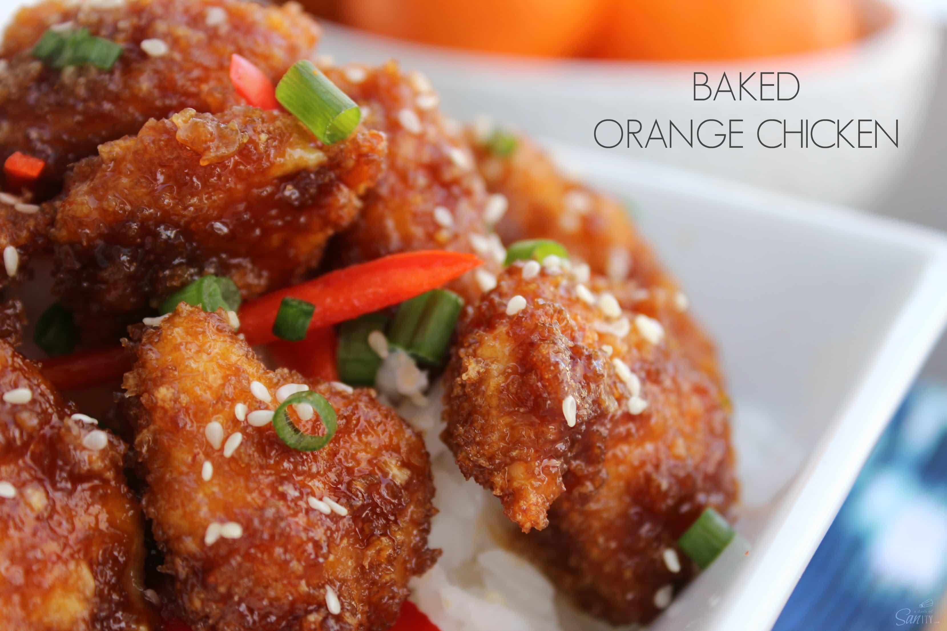 Baked Orange Chicken view