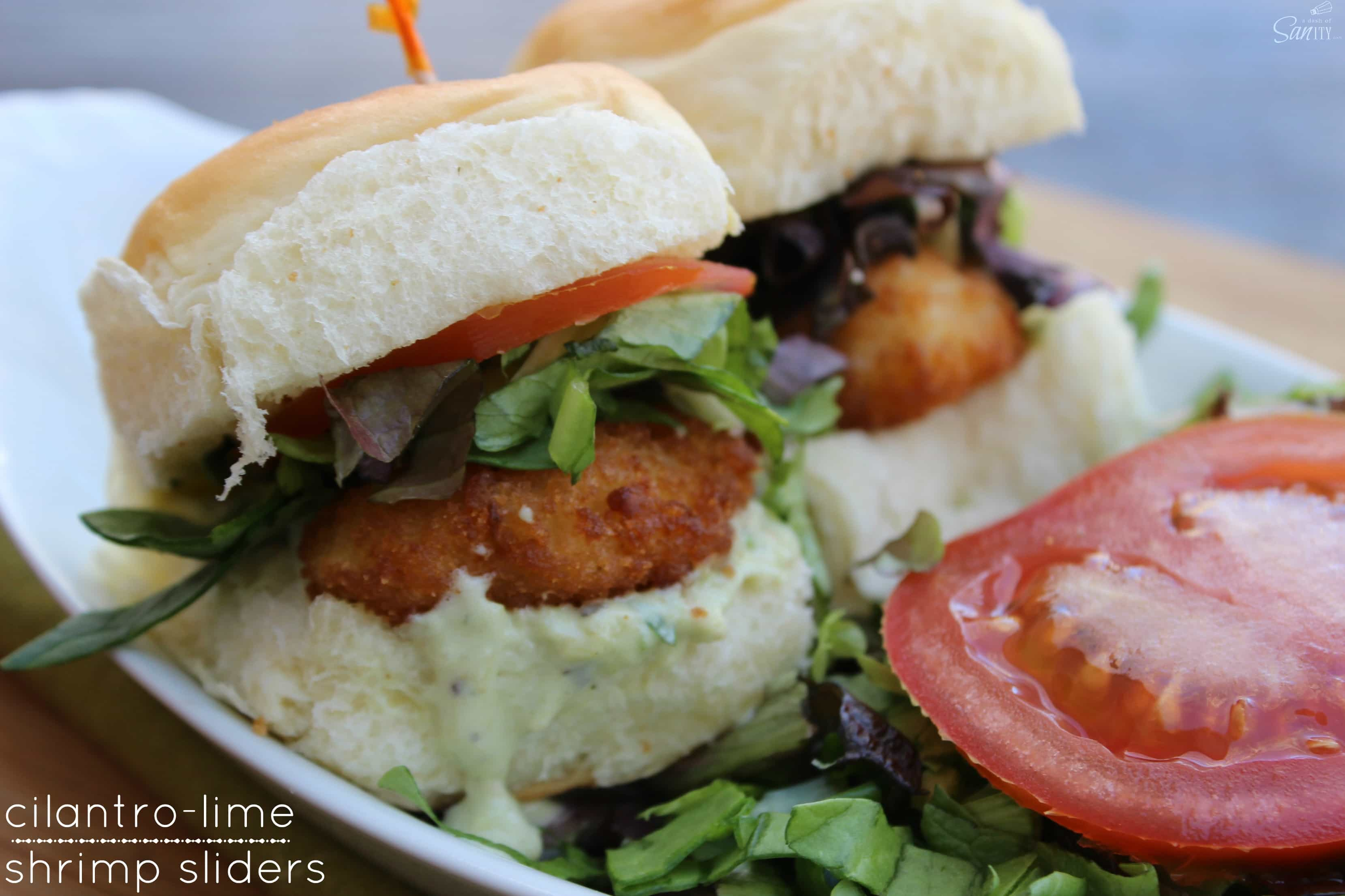 These Cilantro-Lime Shrimp Sliders are an easy meal or appetizer that ...