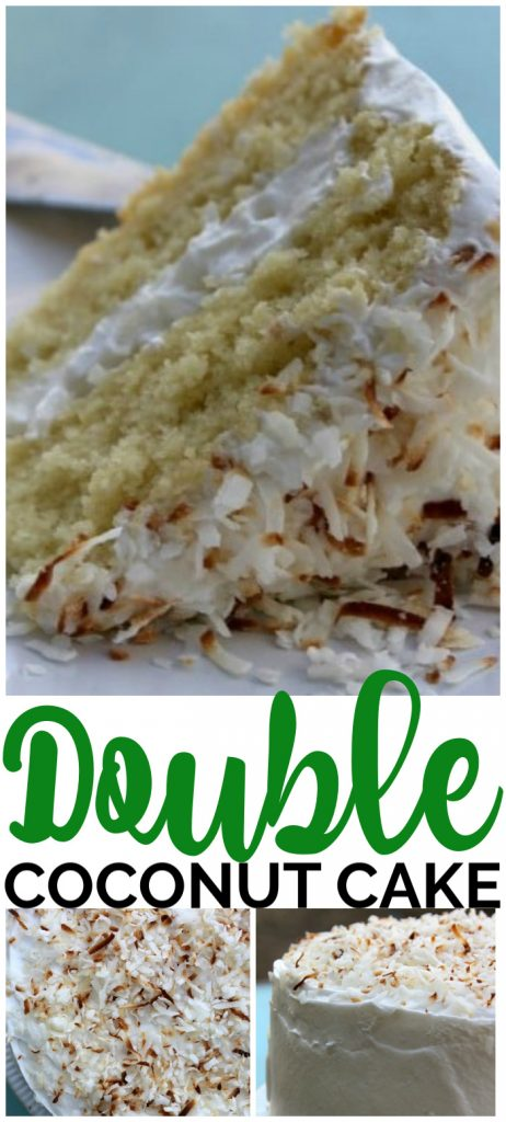 Double Coconut Cake pinterest image