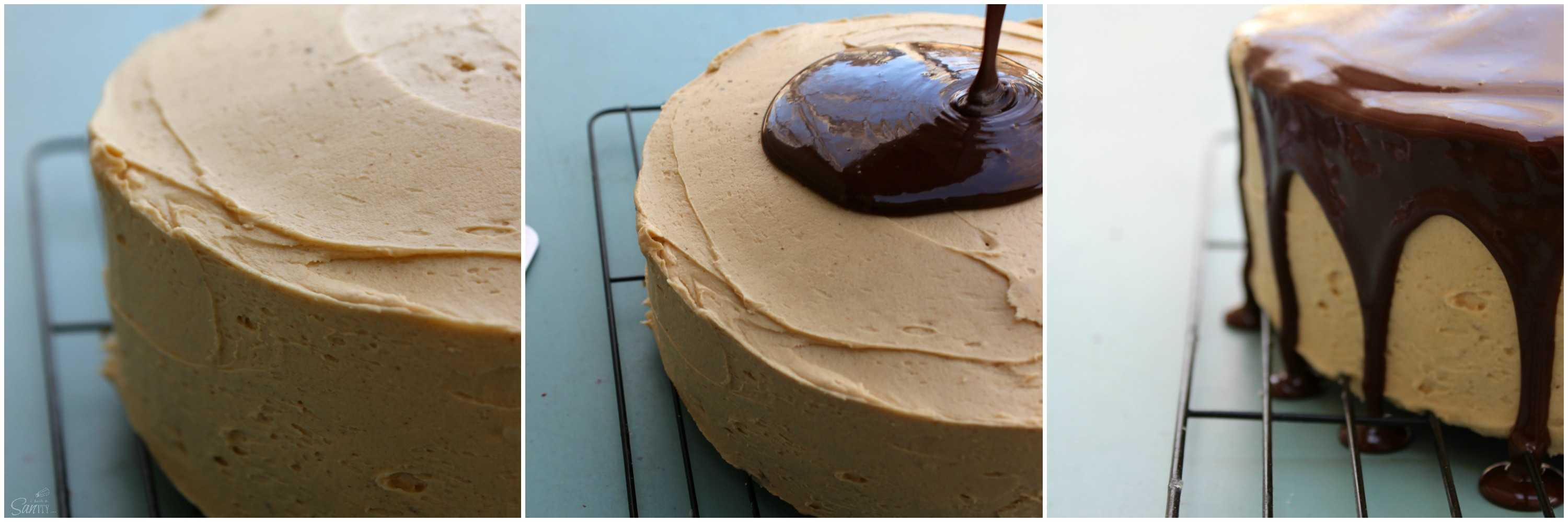 Double Chocolate Peanut Butter Cake is the ultimate birthday cake. Moist chocolate cake with a peanut butter buttercream, topped off with chocolate ganache.