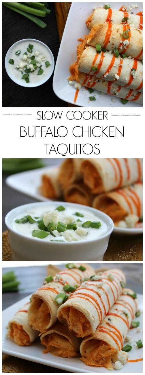 Slow Cooker Buffalo Chicken Taquitos