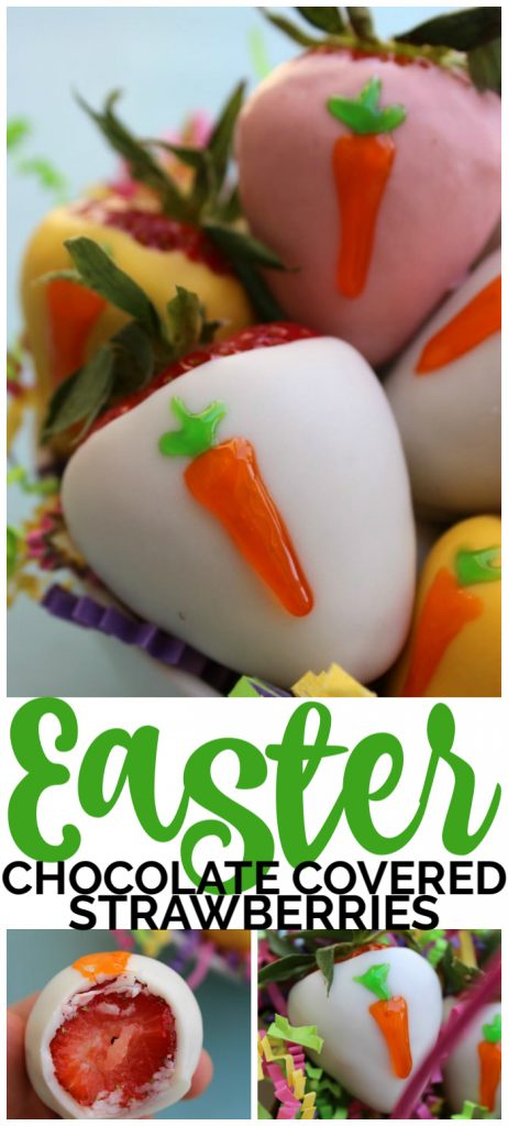 Chocolate Covered Easter Strawberries pinterest image