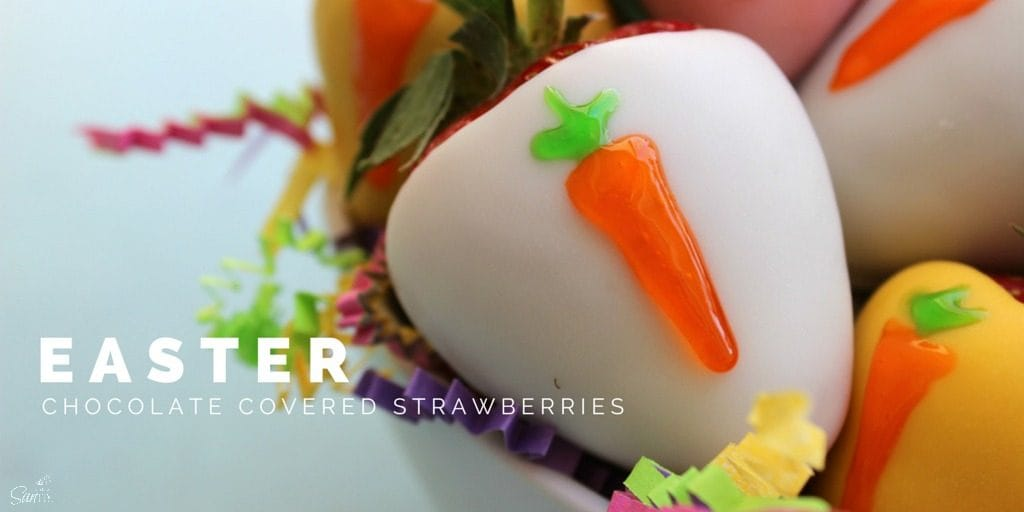 Chocolate Covered Easter Strawberries are an elegant treat to add to your Easter table that take fewer than 15 minutes to make. This is a spring must have.