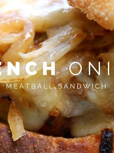 French Onion Meatball Sandwiches