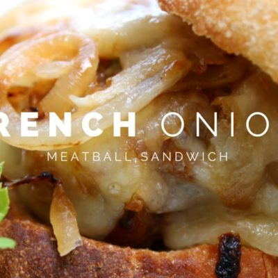 French Onion Meatball Sandwich