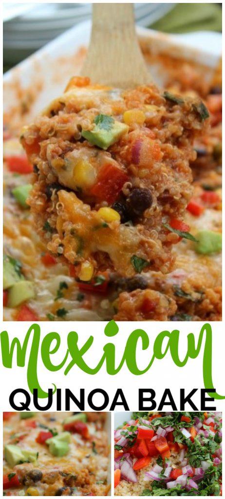 Mexican Quinoa Bake pinterest image