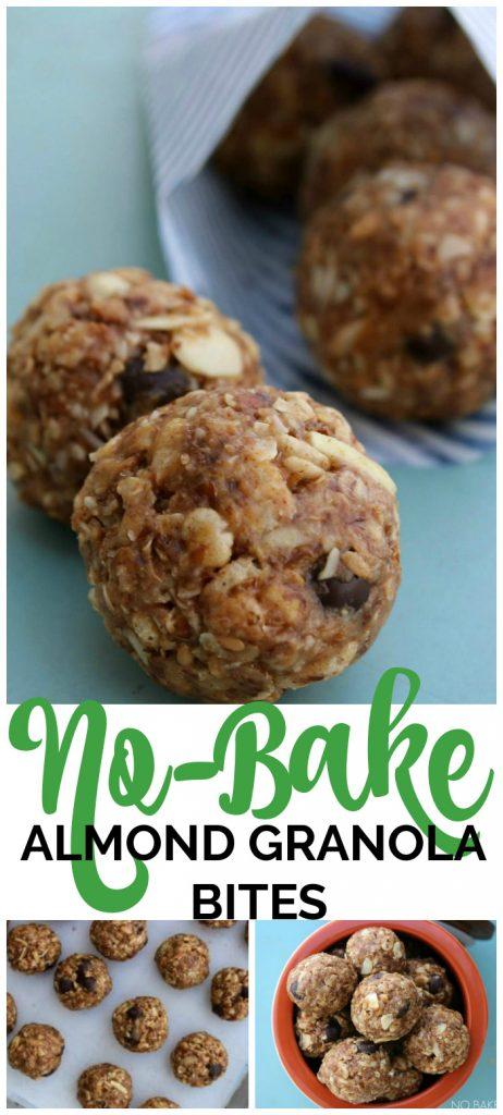 No Bake Almond Granola Bites pinterest image