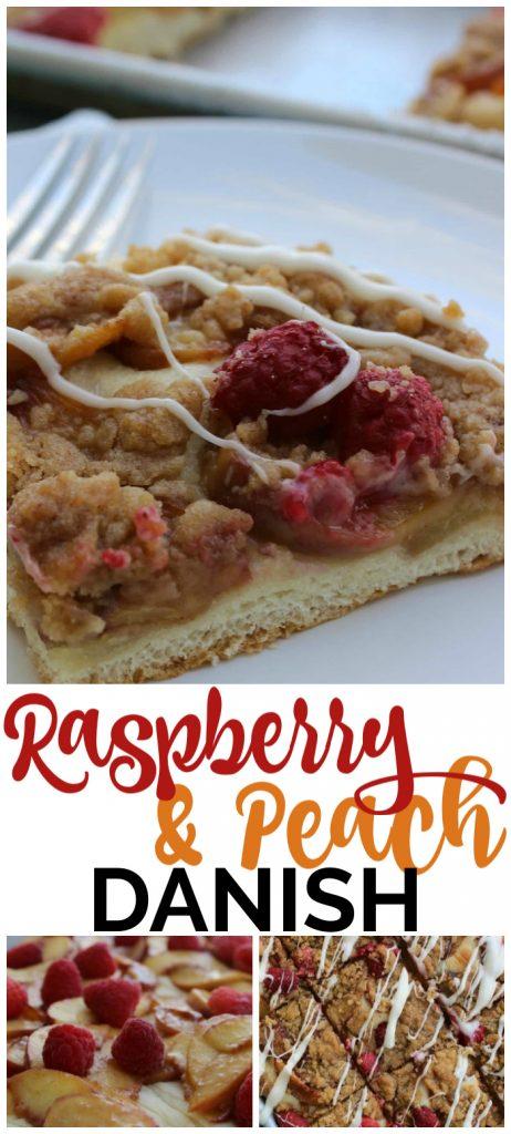 Raspberry & Peach Danish pinterest image