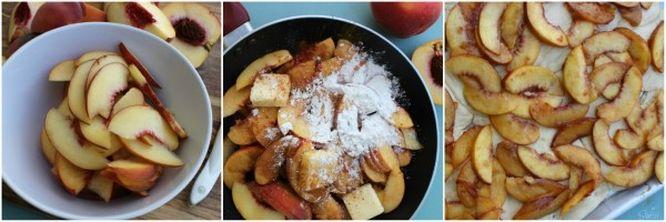 Easy Raspberry & Peach Danish fresh peaches prep