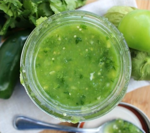 This Salsa Verde is an authentic Mexican salsa with fresh & fabulous flavors. With tomatillos, cilantro, and peppers, this salsa can be ready in 5 minutes.