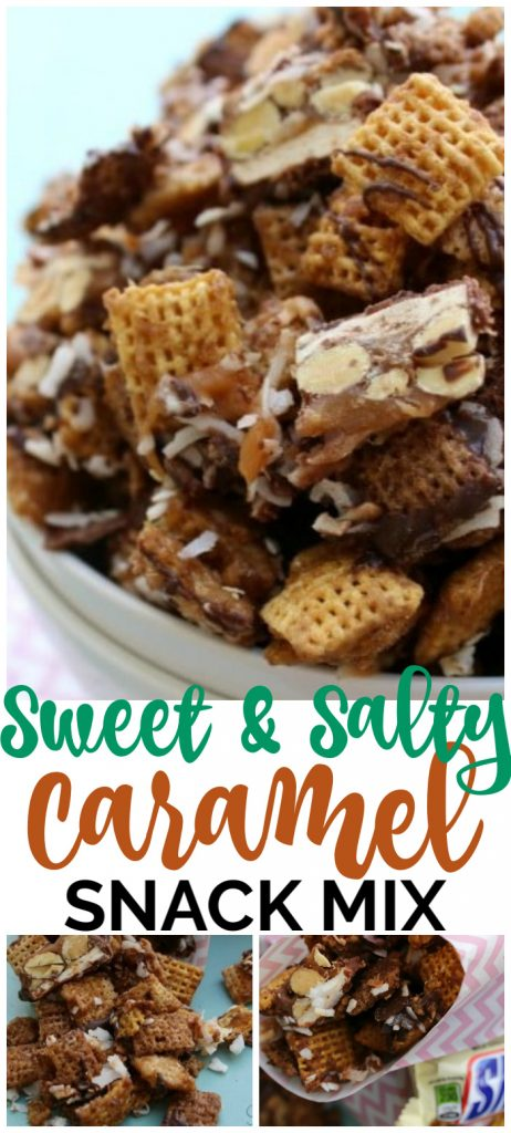 Sweet & Salty Caramel Snack Mix pinterest image