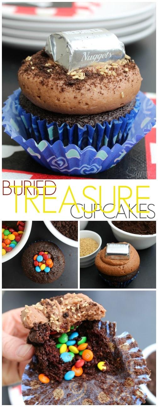 Buried Treasure Cupcakes