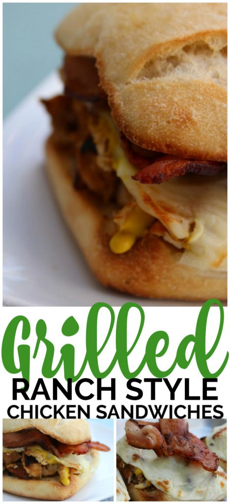 """Grilled """"Ranch"""" Style Chicken Sandwiches pinterest image"""