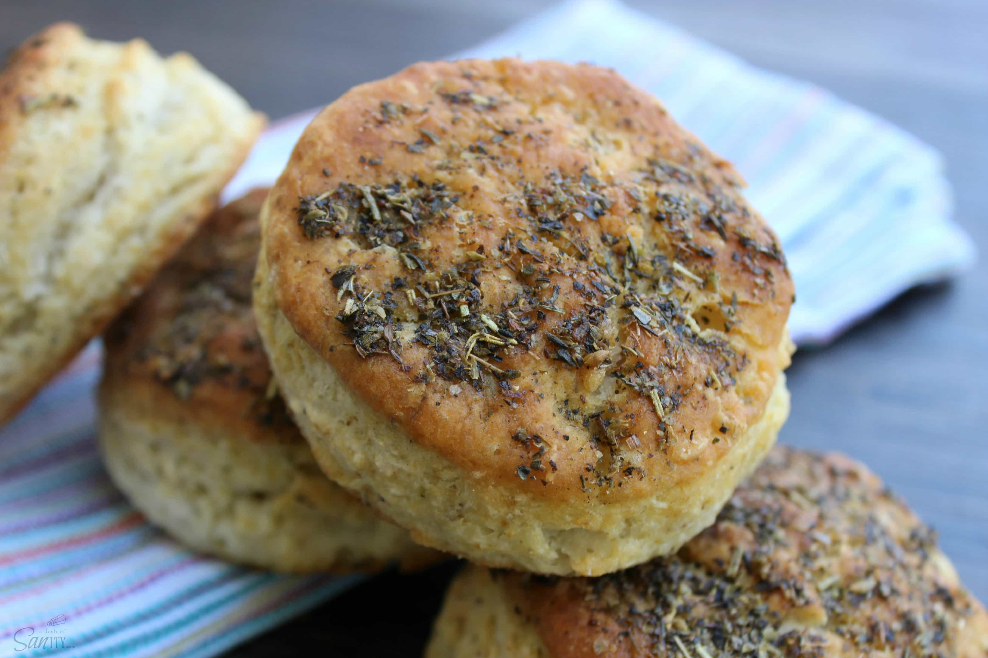 Italian Herb Biscuits are spiced, light, flaky, & buttery biscuits. With Italian seasoning & Parmesan cheese these will the best crouton you will ever have.