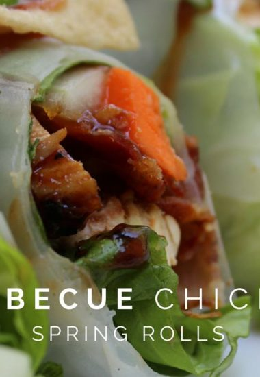 Barbecue Chicken Spring Rolls